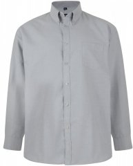 Kam Oxford shirt Long Sleeve Grey