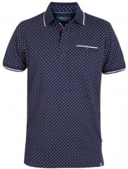 D555 Rogers Printed Polo Navy