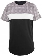 D555 Vista Couture Cut And Sew Curved Hem T-Shirt