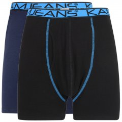 Kam Jeans Boxershorts Black and Navy 2-Pack