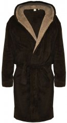 D555 Newquay Bathrobe Black