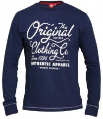 D555 Austin Long Sleeve T-shirt Navy