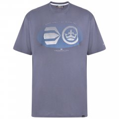 Crosshatch Eliptical T-shirt Grey