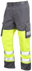 Leo Bideford Cargo Pants Hi-Vis Yellow/Grey
