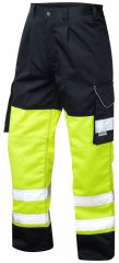 Leo Bideford Cargo Pants Hi-Vis Yellow/Navy