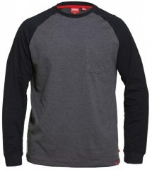 D555 Illinois Long Sleeve T-shirt Charcoal