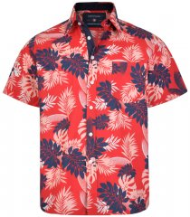 Kam Jeans 6166 Hawaii Shirt Red