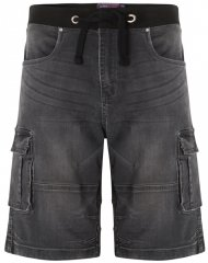 Kam Jeans Dito Denim Shorts Charcoal