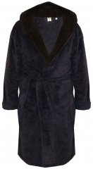 D555 Newquay Bathrobe Navy