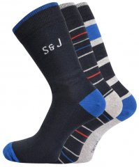 Smith & Jones Sires 3-pack Socks (46-49)