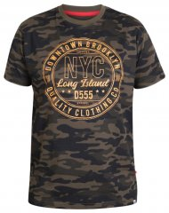 D555 Thompson T-shirt Jungle Camo