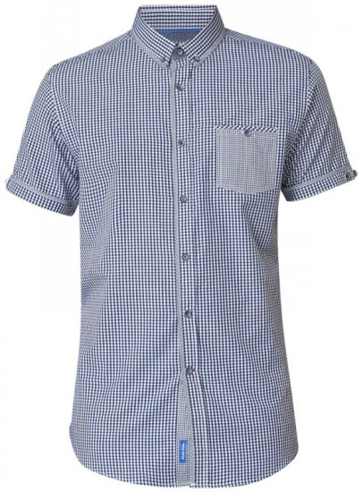 D555 Hank Gingham Short Sleeve Shirt - Shirts - Shirts - 2XL-8XL