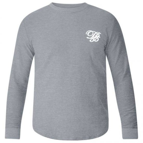 D555 Plato Long Sleeve T-shirt Grey - T-shirts - T-shirts in big sizes - 2XL-8XL