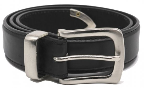 D555 Joeseph Leather Belt Black, 3,5cm - Belts - Belts W40-W70/2XL-8XL