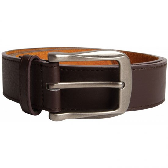 D555 Harrison Leather Belt Brown, 4cm - Belts - Belts W40-W70/2XL-8XL