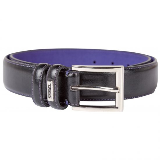 D555 Rodger Leather Belt Black, 3,5cm - Belts - Belts W40-W70/2XL-8XL