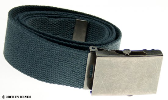 Duke Charcoal Canvas belt - Belts - Belts W40-W70/2XL-8XL