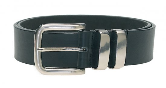 D555 Noah Leather Belt Black, 4cm - Belts - Belts W40-W70/2XL-8XL