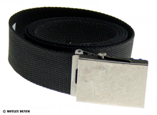 Duke Black Canvas Belt - Belts - Belts W40-W70/2XL-8XL