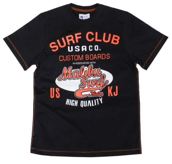 Kam Jeans Surf Club Tee Navy - T-shirts - T-shirts in big sizes - 2XL-8XL