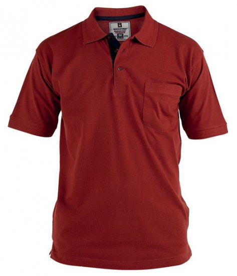 Rockford Polo Red - Polo shirts - Polo shirts -2XL-8XL