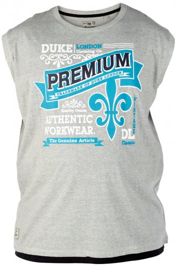 Duke Goa Tank Top Grey - T-shirts - T-shirts in big sizes - 2XL-8XL
