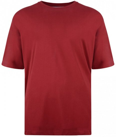 Kam Jeans T-shirt Red - T-shirts - T-shirts in big sizes - 2XL-8XL