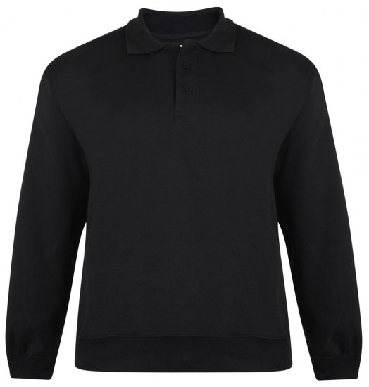 Kam Jeans Black Collar Sweatshirt - Sweaters & Hoodies - Sweatshirts & Hoodies - 2XL-8XL