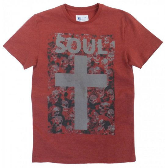 Kam Soul Skull Tee Red - T-shirts - T-shirts in big sizes - 2XL-8XL