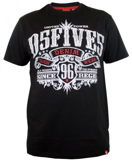 D555 Ames T-shirt Black - T-shirts - T-shirts in big sizes - 2XL-8XL