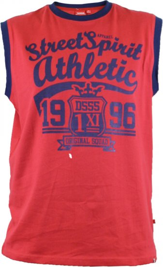 D555 Vest Rally Red - T-shirts - T-shirts in big sizes - 2XL-8XL