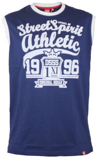 D555 Vest Rally Navy - T-shirts - T-shirts in big sizes - 2XL-8XL