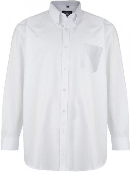 Kam Oxford shirt Long sleeve White - Shirts - Shirts - 2XL-8XL