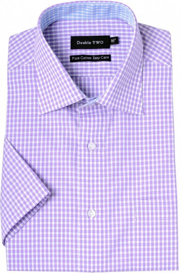 Double TWO Formal Shirt Purple - Shirts - Shirts - 2XL-8XL