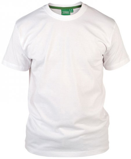 D555 Flyers Crew Neck T-shirt White - T-shirts - T-shirts in big sizes - 2XL-8XL