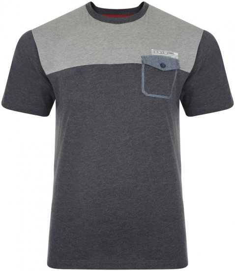 Kam Jeans 543 T-shirt Charcoal - T-shirts - T-shirts in big sizes - 2XL-8XL