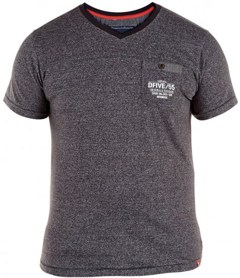 D555 Keith T-shirt Grey with pocket - T-shirts - T-shirts in big sizes - 2XL-8XL
