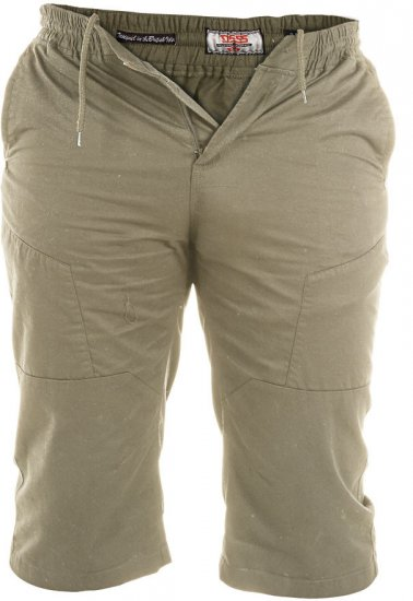 D555 Jefferson Long Length Cotton Short Khaki - Shorts - Shorts W40-W60