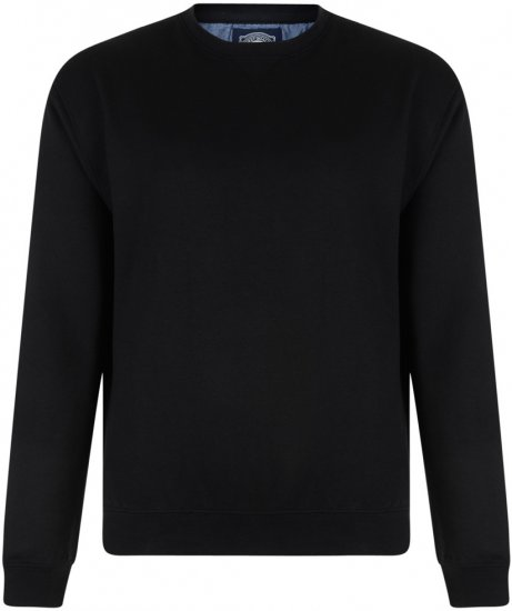 Kam Jeans Sweatshirt Black - Sweaters & Hoodies - Sweatshirts & Hoodies - 2XL-8XL