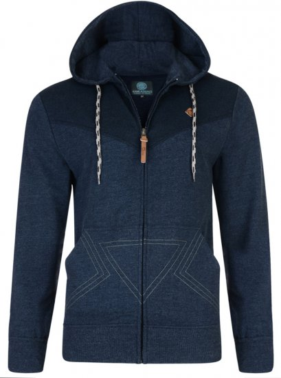Kam Jeans Panel Print Hoody Navy - Sweaters & Hoodies - Sweatshirts & Hoodies - 2XL-8XL