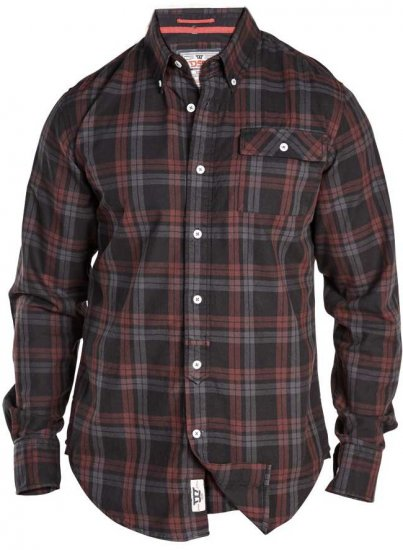 D555 Hubert One Pocket Check Shirt - Shirts - Shirts - 2XL-8XL