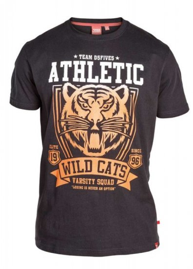 "D555 STACY ""Wild Cats"" T-Shirt Black - T-shirts - T-shirts in big sizes - 2XL-8XL"