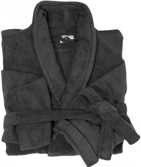 Abraxas Bathrobe 100% Cotton Black - Underwear & Swimwear - Underwear - 2XL-8XL