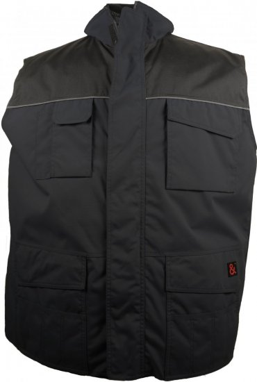 Marc & Mark Work-vest Black - Workwear - Workwear, rain- and skiclothes - 3XL-10XL