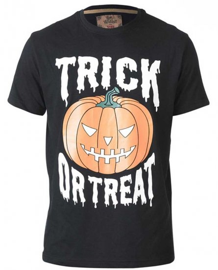 D555 Scary Halloween Pumpkin T-shirt Black - T-shirts - T-shirts in big sizes - 2XL-8XL