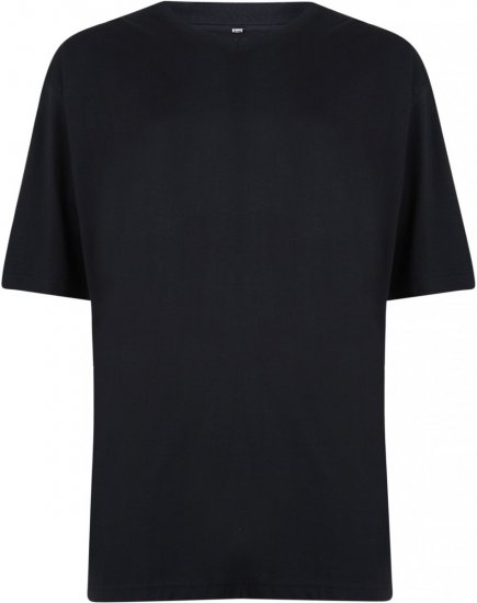 Motley Denim V-neck T-shirt Black - T-shirts - T-shirts in big sizes - 2XL-8XL