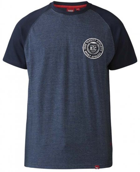 D555 Spencer T-shirt Navy - T-shirts - T-shirts in big sizes - 2XL-8XL