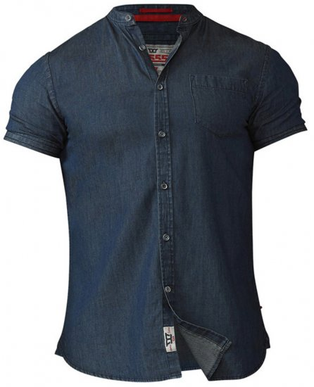 D555 Astra Short Sleeve Denim Shirt - Shirts - Shirts - 2XL-8XL