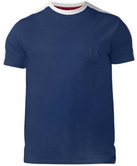 D555 Rick T-shirt Navy - T-shirts - T-shirts in big sizes - 2XL-8XL