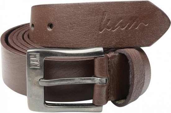 Kam Jeans 913 Jeans Belt Genuine Leather Brown , 4cm - Belts - Belts W40-W70/2XL-8XL